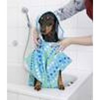 Dog towel coat with hood, microfibre, quick dry