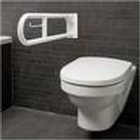 Toilet roll holder for support rail, foldable