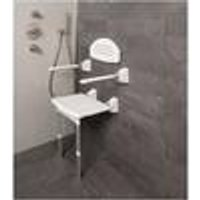 Fold up shower seat with legs, 420 x 380 mm