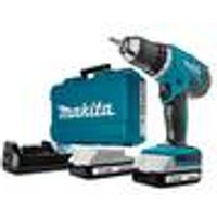 HP457DWE Cordless Combi Drill Set, 18 V, with 2 Batteries and Accessories Makita