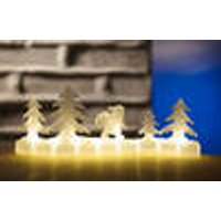 LED table decoration with Santa Claus motif