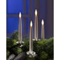 Long, flickering LED candles, 10-pieces
