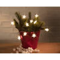 Starlight, star-shaped fairy light chain with 10 warm white LEDs