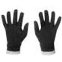Knitted gloves with soft fleece lining, black / grey, size 9