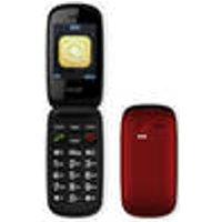 Large button flip-phone with camera, black DENVER ®