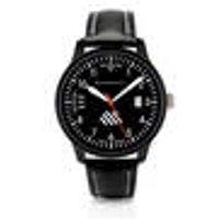 Wristwatch ME-42ALTI, black leather strap, altimeter motiff Messerschmitt