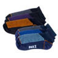 Men's sneaker socks, 3 pairs, navy blue / multicoloured, size S DMAX