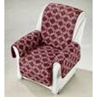 Reversable Arm Chair Cover, Bordeaux Red