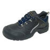 S3 Safety Shoes, with reflective stripes, black / navy, size 6 Wica