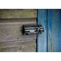 Combination Bolt Lock, Black, Total Length 11.5 cm