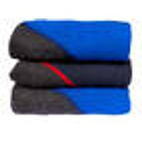 Thick Durable Socks, royal blue and navy, size 6-8 (Pack of 3)