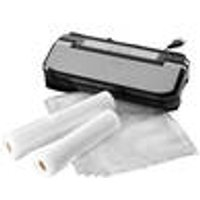 Vacuum Sealer, Stainless Steel, with 5x Free Bags and 2x Rolls