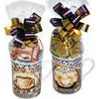 Coffee Porcelain mug filled with confectionary, set of 2