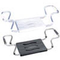 Secura Bathtub seat, silver / anthracite, extendable W 55 - 65 cm, 150 kg Wenko