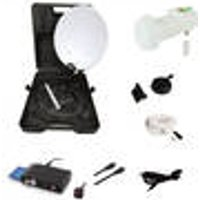 Camping Satellite System with HD Receiver, EasyFind LNB Camping Case OPTICUM