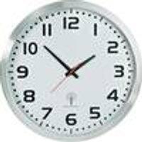 Radio Wall Clock, aluminum, 50 cm diameter Eurotime