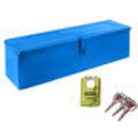 Tool box made of metal, lockable, blue, with high security lock Westfalia