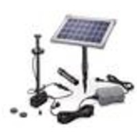 Rimini LED Solar Pond Pump System, with water feature nozzles Esotec