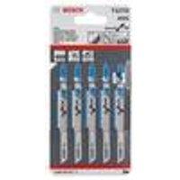 T 127 D Jigsaw Blade Set, 5-Pieces Bosch