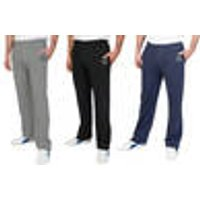 Leisure Trousers with Elasticated Waist, Grey, Size M