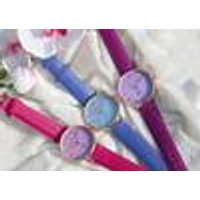 Excellanc Ladies Watch with Colour Changing Strap, White / Pink EXCELLANC