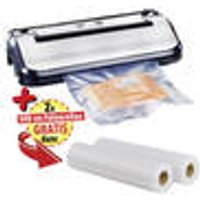 Stainless Steel Vacuum and Foil Sealing Machine + FREE Foil Rolls, set of 2