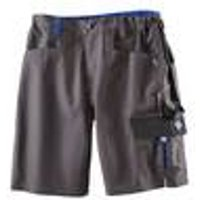 Shorts for work and hobby, colour grey / royal blue, size 34