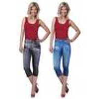 Capri Jeggings in Dual Pack, blue and black in various sizes