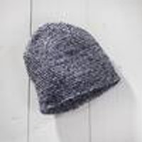 Knitted hat, mottled blue, universal size