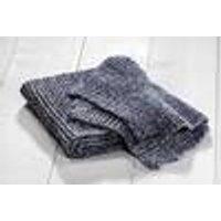 Knit scarf, mottled blue, 26 x 160 cm, universal size
