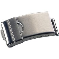 Image of Faltverschluß & Sicherheitsbügel Edelstahl 20 mm für Uhrenarmbänder