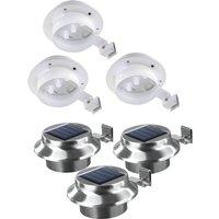 Image of Solarzauber LED Dachrinnen-Leuchte mit integr. Solarpanel - 3er Set