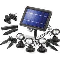 Esotec Ensemble de 4 Spots solaires pour le jardin