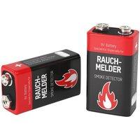 Image of Alkaline 9V Block Rauchmelderbatterie - 2 Stück