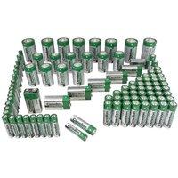 Image of Zink-Kohle-Batterien 98-teiliges Sparset