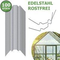 Image of Gewächshausklammern aus Edelstahl, 100 Stück