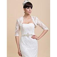 Wedding Wraps Coats/Jackets Half-Sleeve Lace Ivory Wedding / Party/Evening