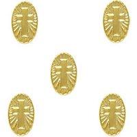 10pcs Cross Medallion Retro Charms 3D Metal Alloy 5mm x8mm Nail Art Decoration