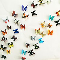 3D Wall Stickers 38PCS Butterfly Wall Decals Wedding Decoration