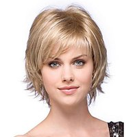 2015 new alice turned Short Synthetic Hair Wig Blonde mix Wig for Women