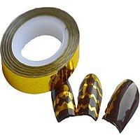 1pcs 6mm Beauty Nail Art Gold Color Wavy Nail Lines DIY Manicure Decoration