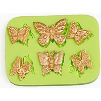 6 Filigree Butterflies Silicone Mold for Candy Making Tools Cake Decoration Mould Color Random