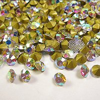100PCS 5MM Culet AB Color Intrigue Rhinestone Nail Art Decoration