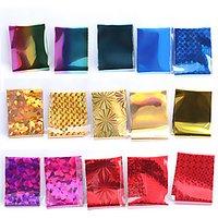56Designs 10pcs Symphony Nail Foil Sticker Star Style Art Polish Transfer Decal DIY Beauty