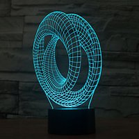 Abstract Touch Dimming 3D LED Night Light 7Colorful Decoration Atmosphere Lamp Novelty Lighting Christmas Light