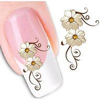 1pcs Flowers Nail Watermark Stickers