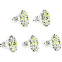 3W GU4(MR11) LED Filament Bulbs 12 leds SMD 5730 Warm White Cold White 250-300lm 3500/6000K DC 12V