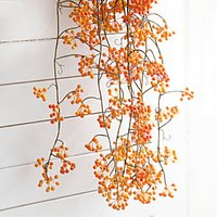 2 Branch Plastic Plants Wall Flower Artificial Flowers