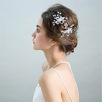 Alloy Flowers 2pcs Headpiece