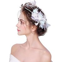 Artificial feather Flowers 1pc Headpiece
